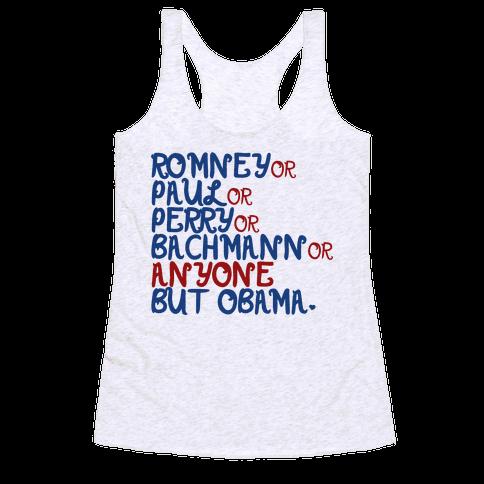 Anyone But Obama Racerback Tank Top