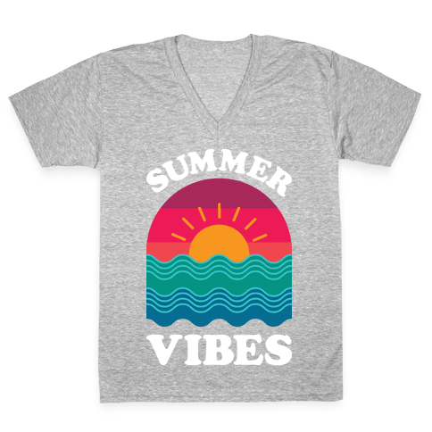Summer Vibes V-Neck Tee Shirt