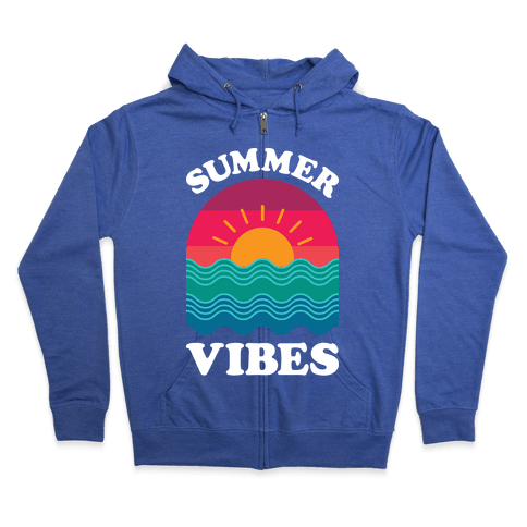 Summer Vibes Zip Hoodie