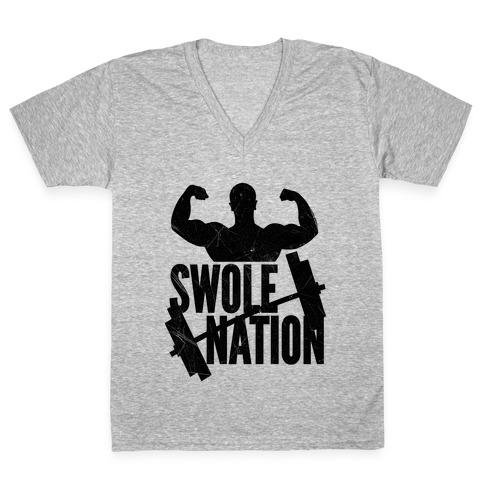 Swole Nation V-Neck Tee Shirt