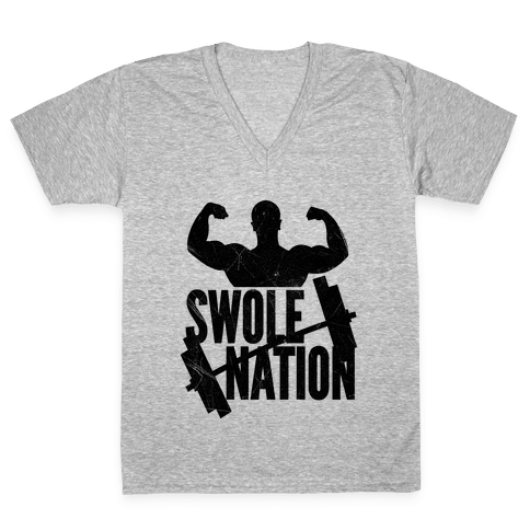 Swole Nation V-Neck Tee Shirt