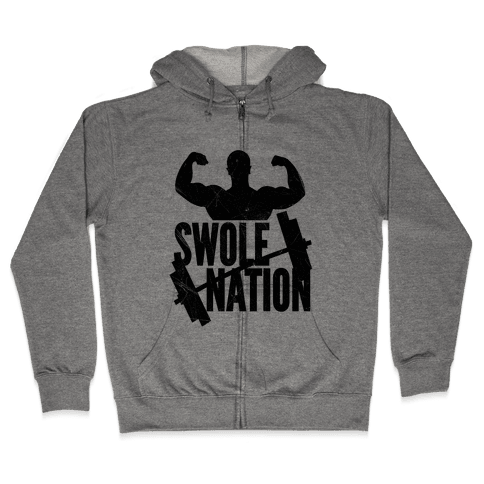 Swole Nation Zip Hoodie