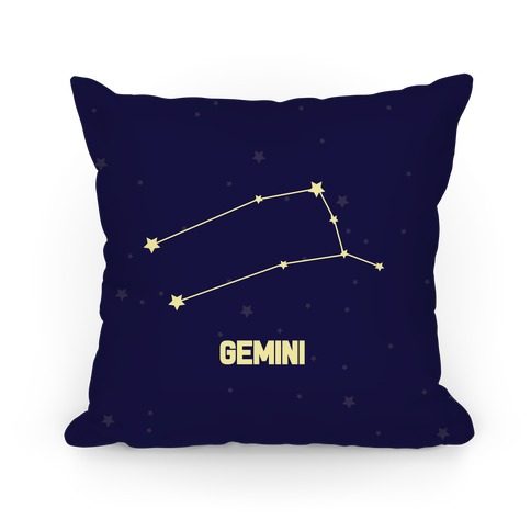 Gemini Horoscope Sign Pillow