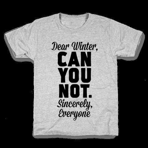 Dear Winter Kids T-Shirt