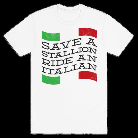 Save a Stallion (tank) Mens T-Shirt