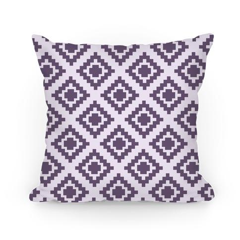 Purple Tribal Diamond Pattern