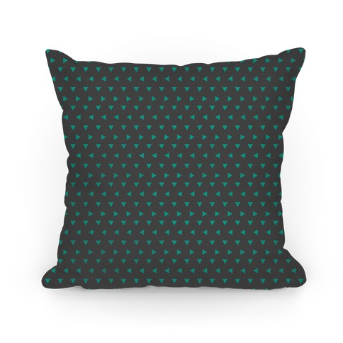 Teal Triangle Pattern Pillow