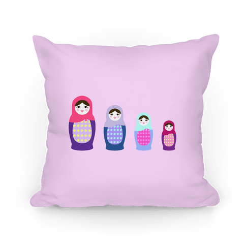 Cute Nesting Doll Family Pillow