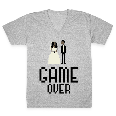 Game Over V-Neck Tee Shirt