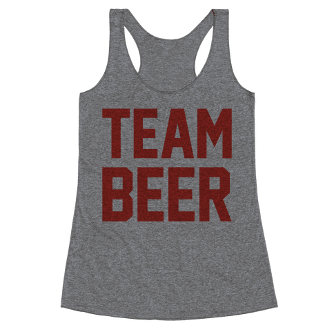 Team Beer Racerback Tank Top