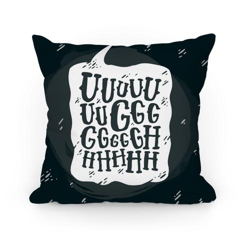 Ugh Speech Bubble Pillow