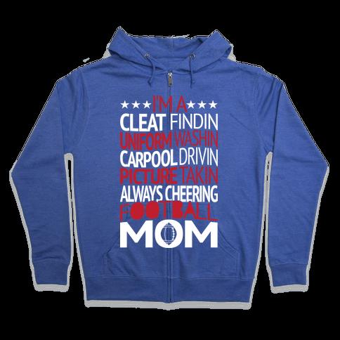 Football Mom Zip Hoodie