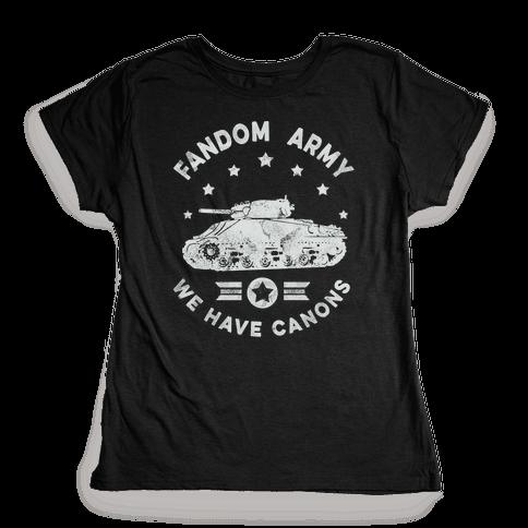 Fandom Army Womens T-Shirt