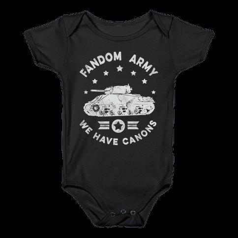 Fandom Army Baby Onesy