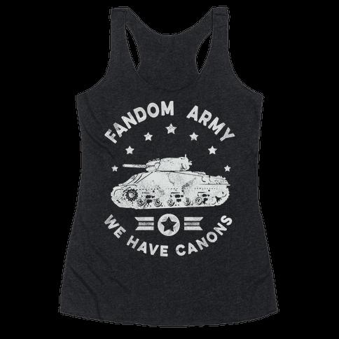 Fandom Army Racerback Tank Top