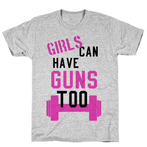 Girls can have guns too! (Tank) Mens T-Shirt