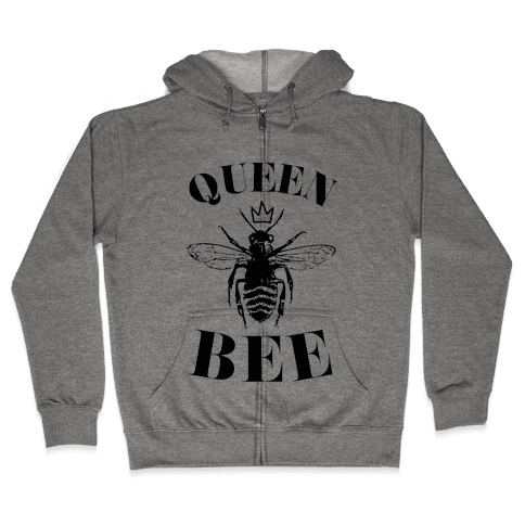 Queen Bee (Illustration) Zip Hoodie
