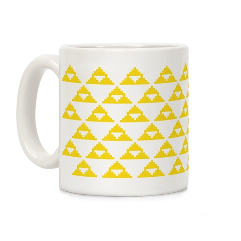 Pixel Triforce Coffee Mug