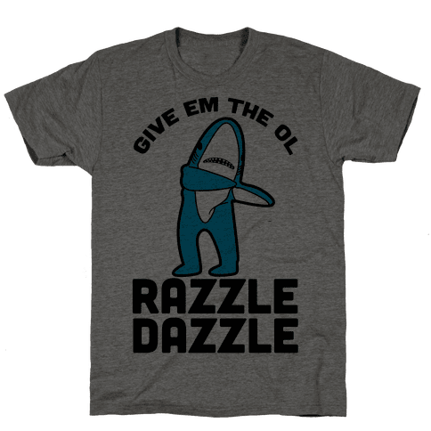 Left Shark Razzle Dazzle Mens T-Shirt