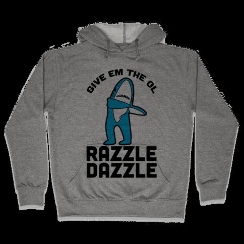 Left Shark Razzle Dazzle Hooded Sweatshirt