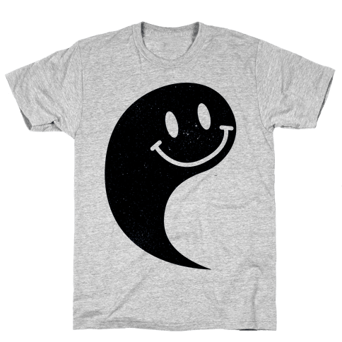 Smiley Yin Yang 1 Mens T-Shirt