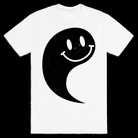 Smiley Yin Yang 1 Mens T-Shirt