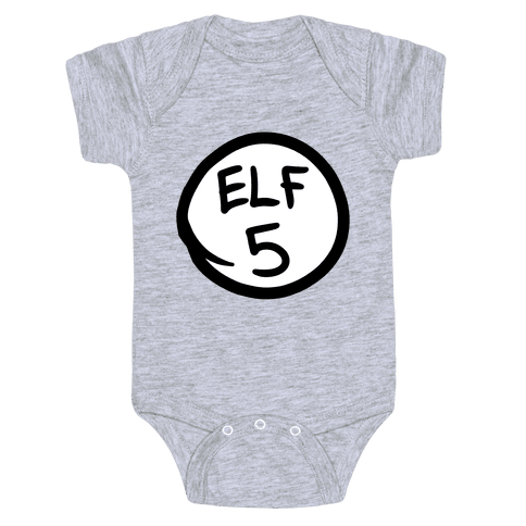 Elf Five Baby Onesy