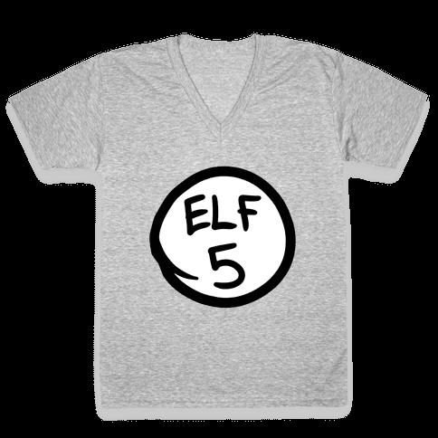 Elf Five V-Neck Tee Shirt