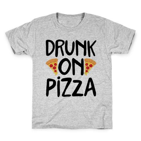 Drunk On Pizza Kids T-Shirt