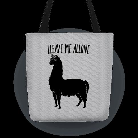 Leave Me Alone Llama Tote
