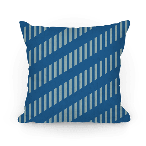 Ravenclaw Diagonal and Vertical Crest Stripes Pillow