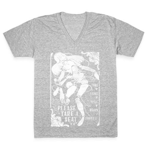 Death Parade Doll V-Neck Tee Shirt