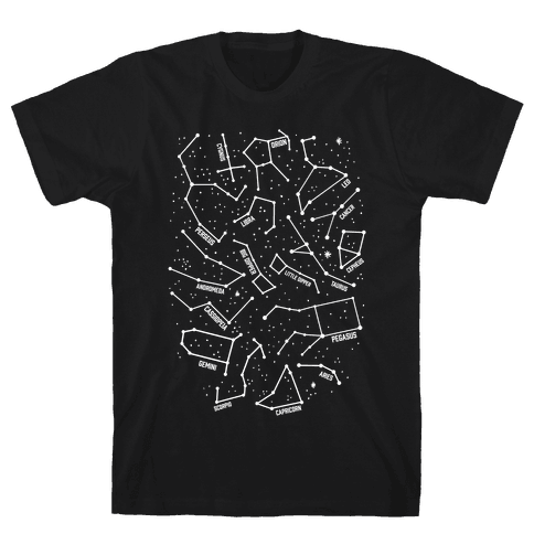 Constellation Star Pattern Mens T-Shirt