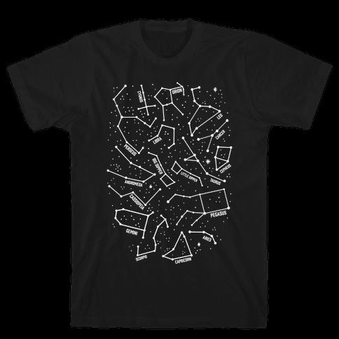Constellation Star Pattern Mens T-Shirt