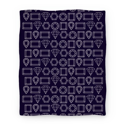 Jewel Outline Pattern Blanket