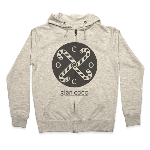 Hipster Coco Logo Zip Hoodie