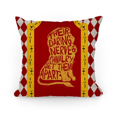 Their Daring Nerve & Chivalry Set Them Apart (Gryffindor) Pillow