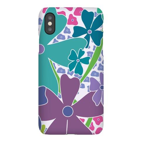 Purple Happy Flowers Pattern Phone Case