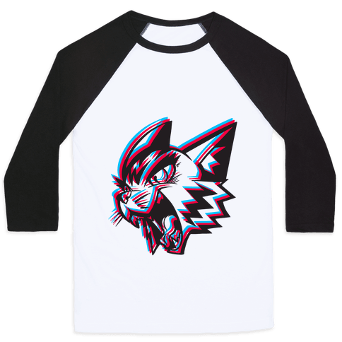 Electric Cat Baseball Tee
