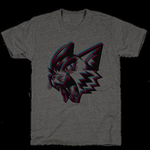 Electric Cat Mens T-Shirt