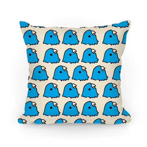 Petey the Parakeet Pattern Pillow Pillow