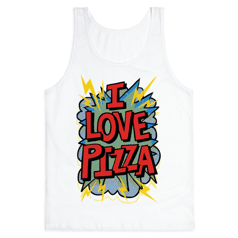 I Love Pizza Pop Art Tank Top