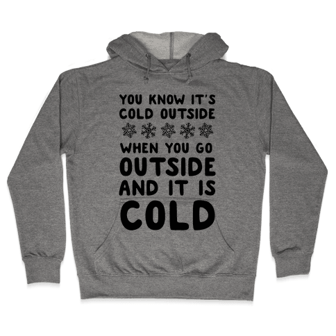 You Know It's Cold Outside Hooded Sweatshirt
