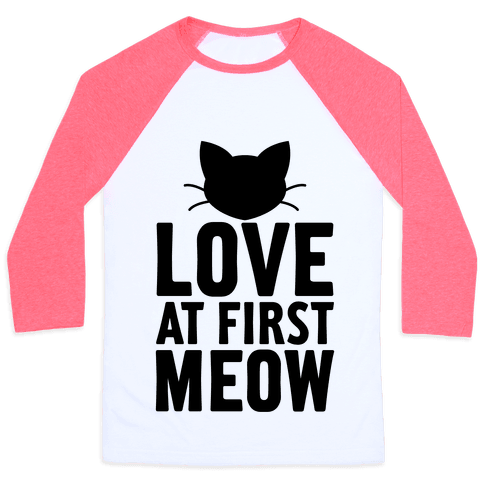 Love At First Meow Baseball Tee