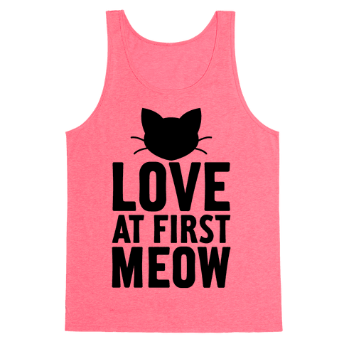 Love At First Meow Tank Top