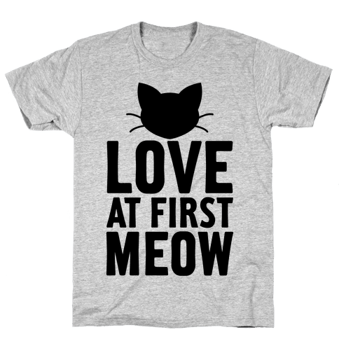 Love At First Meow Mens T-Shirt
