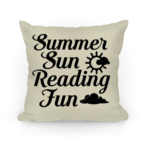 Summer Sun Reading Fun Pillow