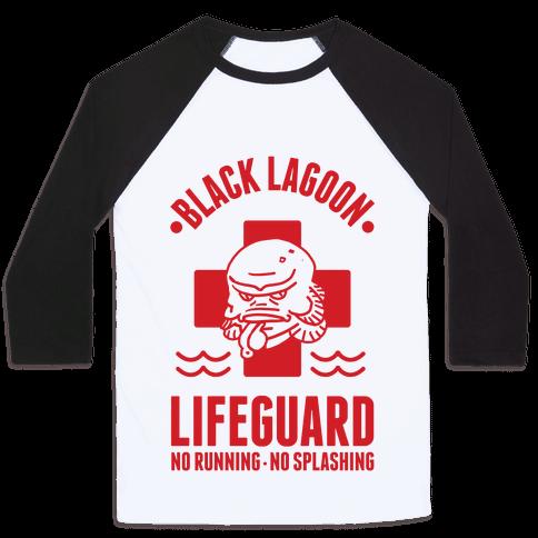 Black Lagoon Lifeguard Baseball Tee