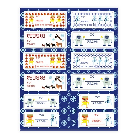 Christmas Gift Tags Sticker and Decal Sheet