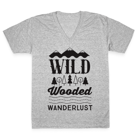 Wild Wooded Wanderlust V-Neck Tee Shirt